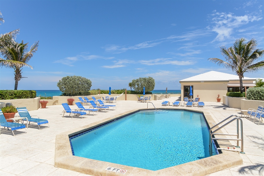 Real Estate Photography - 5540 N. Ocean Drive, 3D, Riviera Beach, FL, 33404 - Pool