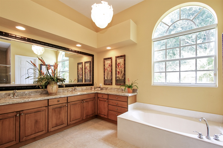 Real Estate Photography - 123 Barcelona Dr, Jupiter, FL, 33458 - Master Bathroom