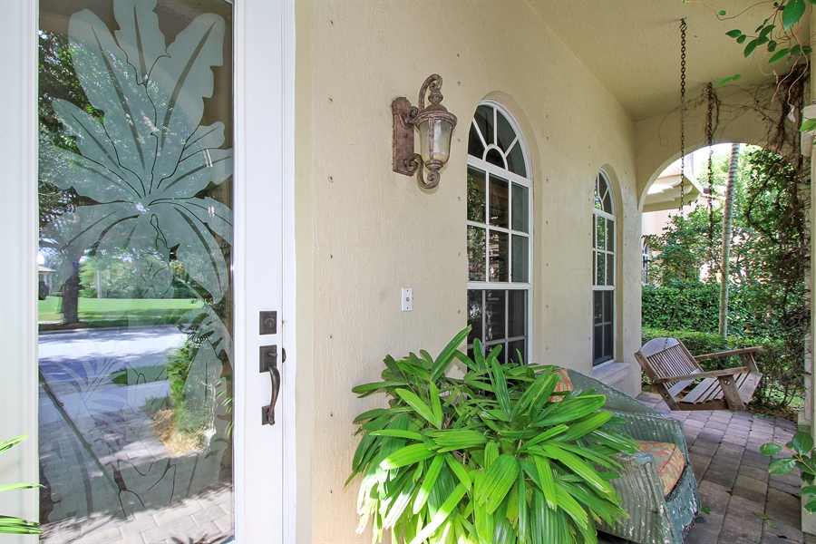 Real Estate Photography - 123 Barcelona Dr, Jupiter, FL, 33458 - Porch