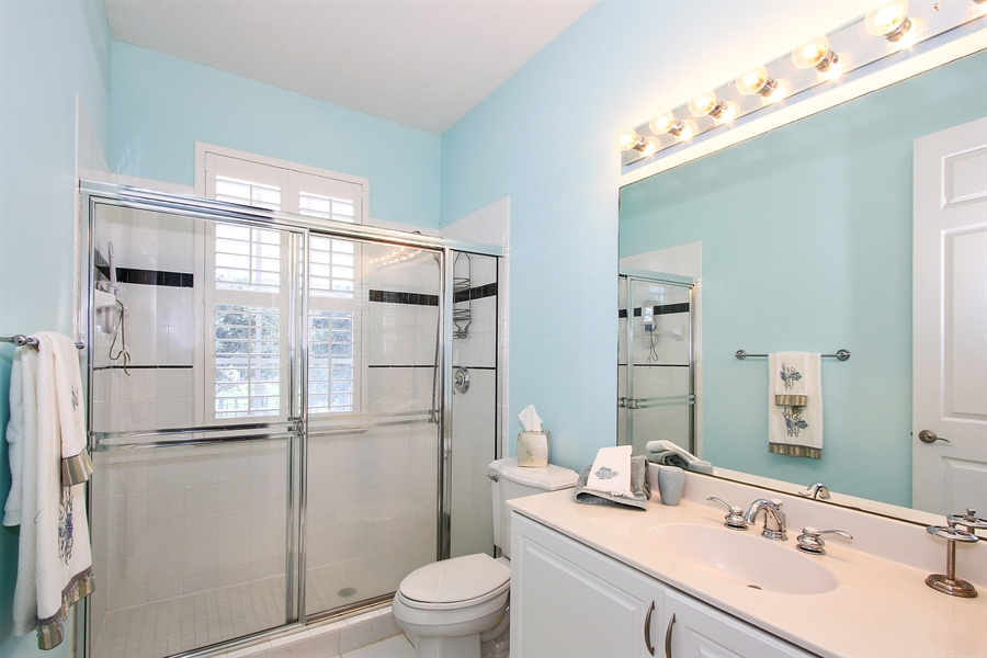 Real Estate Photography - 123 Barcelona Dr, Jupiter, FL, 33458 - 2nd Bathroom
