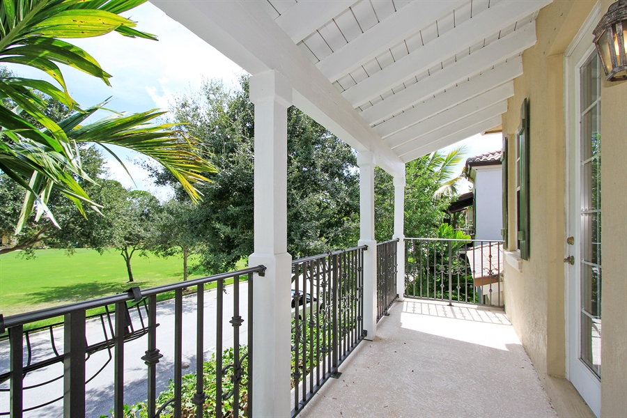 Real Estate Photography - 123 Barcelona Dr, Jupiter, FL, 33458 - Balcony