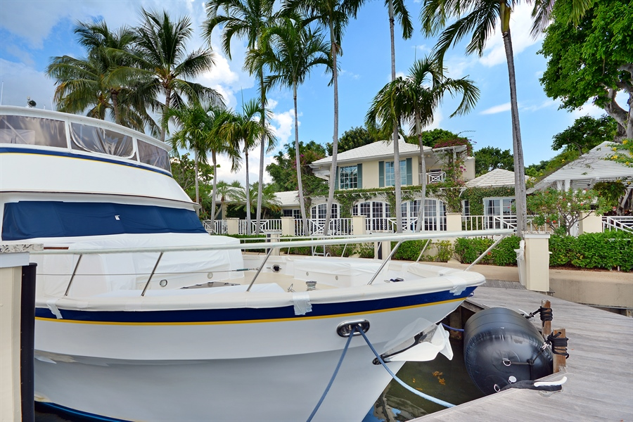 Real Estate Photography - 400 Caribbean, Palm Beach, FL, 33480 - Dock