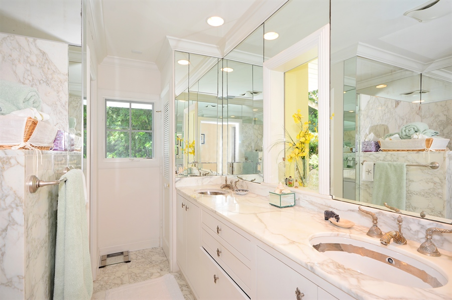 Real Estate Photography - 400 Caribbean, Palm Beach, FL, 33480 - Master Bathroom