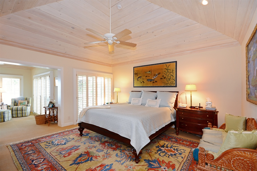 Real Estate Photography - 400 Caribbean, Palm Beach, FL, 33480 - Master Bedroom