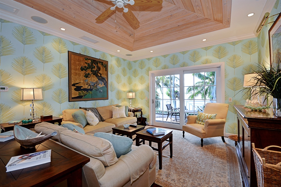 Real Estate Photography - 400 Caribbean, Palm Beach, FL, 33480 - Family Room