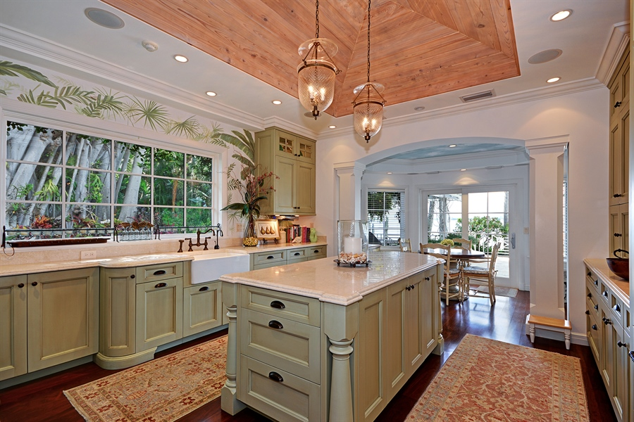 Real Estate Photography - 400 Caribbean, Palm Beach, FL, 33480 - Kitchen