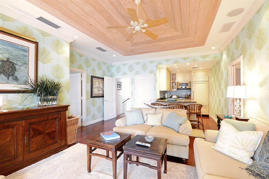 Real Estate Photography - 400 Caribbean, Palm Beach, FL, 33480 - Guest House Living Room