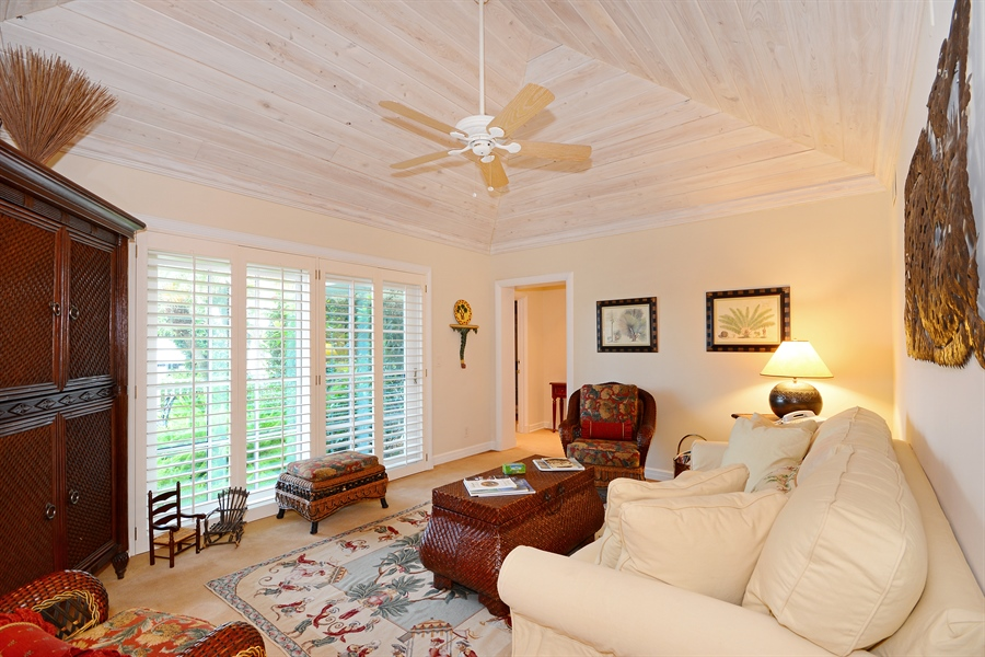 Real Estate Photography - 400 Caribbean, Palm Beach, FL, 33480 - Den