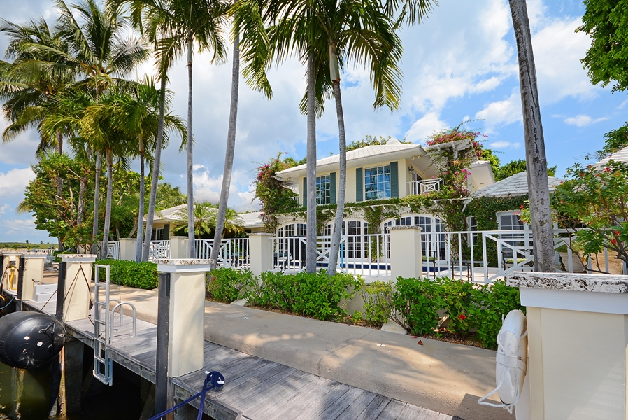 Real Estate Photography - 400 Caribbean, Palm Beach, FL, 33480 - Rear View