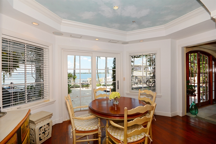 Real Estate Photography - 400 Caribbean, Palm Beach, FL, 33480 - Breakfast Nook