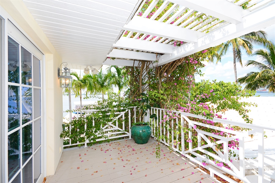 Real Estate Photography - 400 Caribbean, Palm Beach, FL, 33480 - Balcony