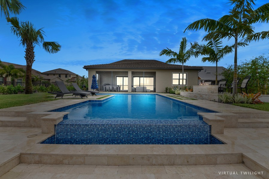Real Estate Photography - 206 Alcove point lane, Jupiter, FL, 33478 - Rear View