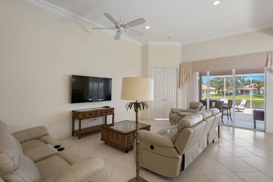 Real Estate Photography - 7729 Quida Drive, West Palm Beach, FL, 33411 - Living Room