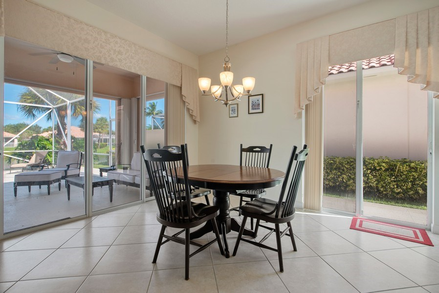 Real Estate Photography - 7729 Quida Drive, West Palm Beach, FL, 33411 - Dining Room