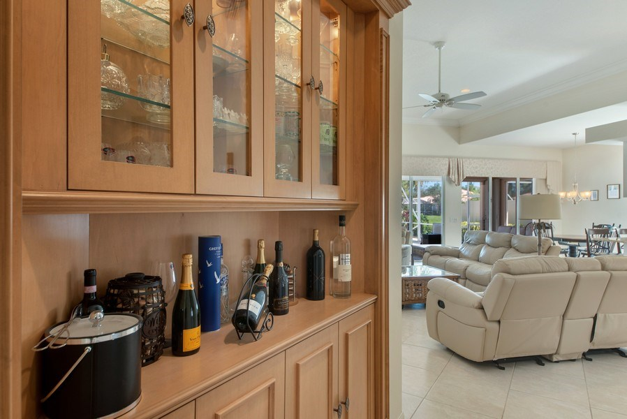 Real Estate Photography - 7729 Quida Drive, West Palm Beach, FL, 33411 - Bar