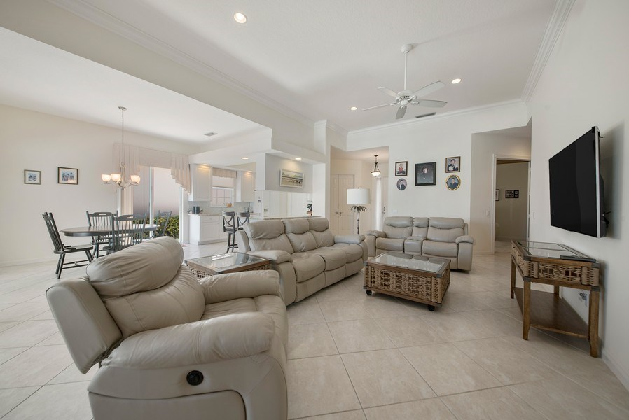 Real Estate Photography - 7729 Quida Drive, West Palm Beach, FL, 33411 - Living Room / Dining Room