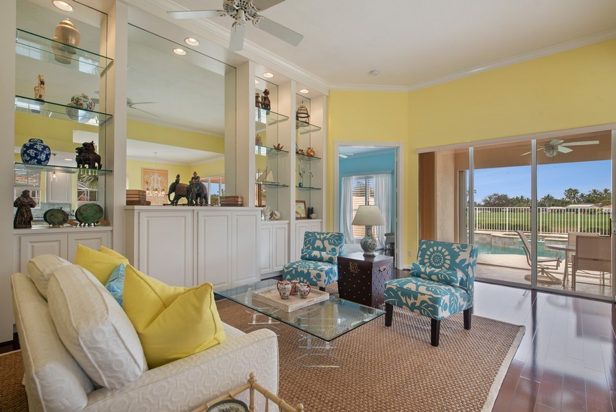 Real Estate Photography - 7586 Quida Drive, West Palm Beach, FL, 33411 - Living Room