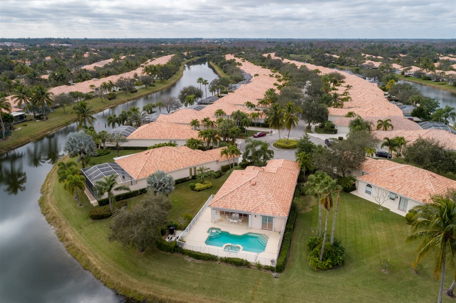Real Estate Photography - 7586 Quida Drive, West Palm Beach, FL, 33411 - Aerial View