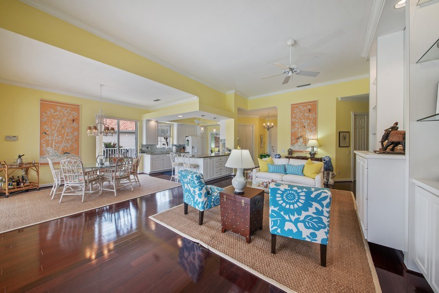 Real Estate Photography - 7586 Quida Drive, West Palm Beach, FL, 33411 - Living Room / Dining Room