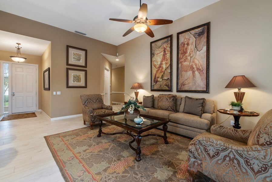 Real Estate Photography - 2683 Irma Lake Drive, West Palm Beach, FL, 33411 - Foyer/Living Room