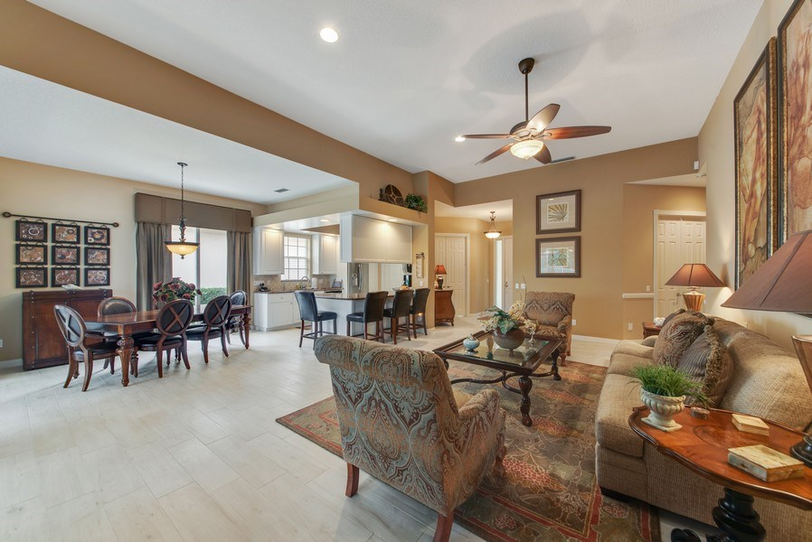 Real Estate Photography - 2683 Irma Lake Drive, West Palm Beach, FL, 33411 - Living Room / Dining Room