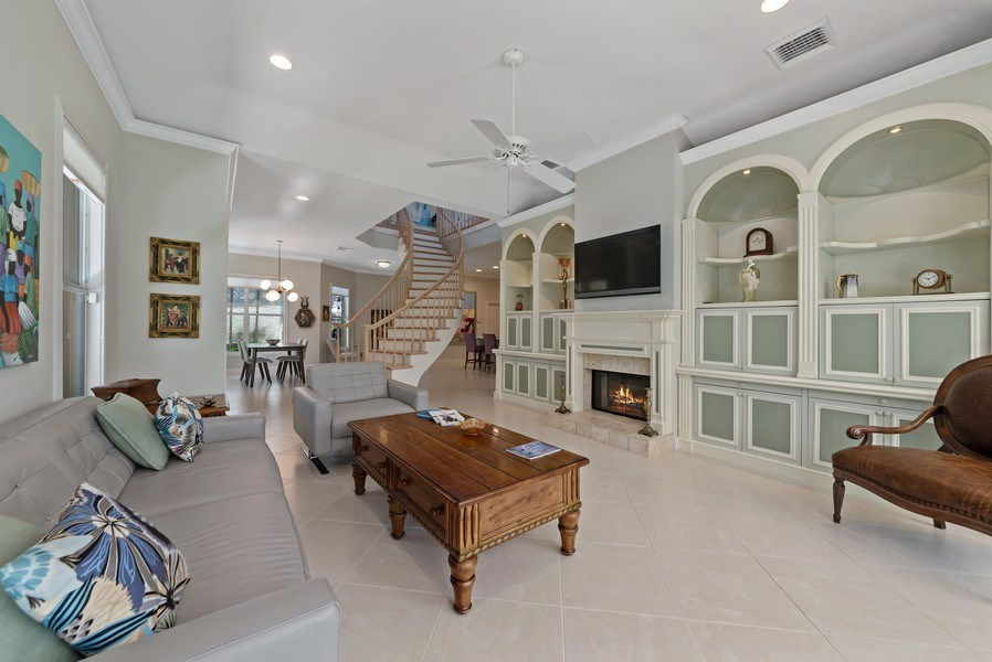 Real Estate Photography - 14523 Cypress Island Circle, Palm Beach Gardens, FL, 33410 - Living Room / Dining Room