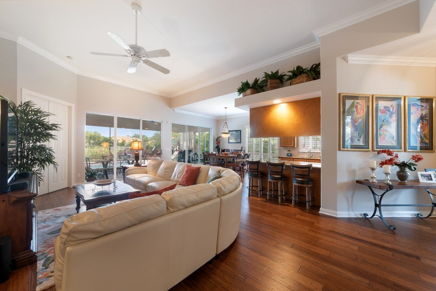 Real Estate Photography - 2834 Irma Lake Drive, West Palm Beach, FL, 33411 - Living Room/Dining Room