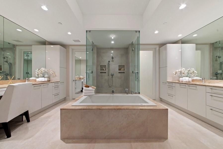 Real Estate Photography - 2102 Water Club Way, North Palm Beach, FL, 33408 - Master Bathroom