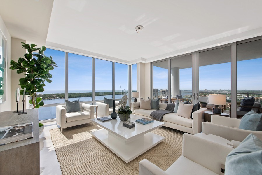 Real Estate Photography - 2102 Water Club Way, North Palm Beach, FL, 33408 - Living Room