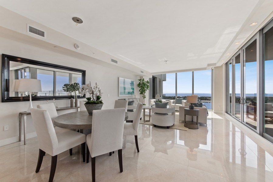 Real Estate Photography - 2102 Water Club Way, North Palm Beach, FL, 33408 - Living Room / Dining Room