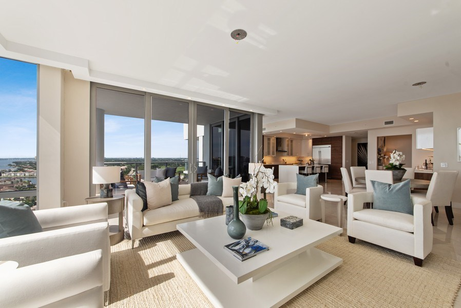 Real Estate Photography - 2102 Water Club Way, North Palm Beach, FL, 33408 - Living Room/Dining Room