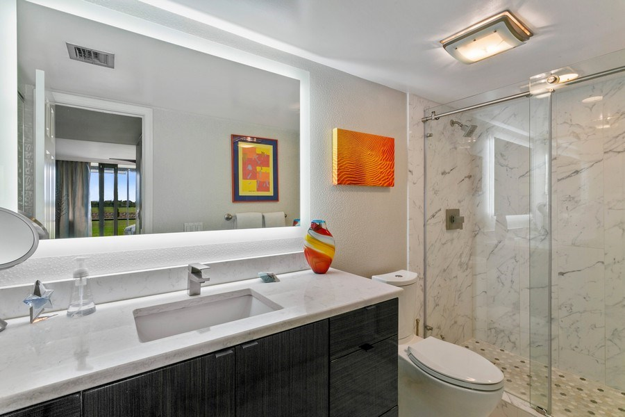 Real Estate Photography - 356 Golfview rd, unit 109, North Palm Beach, FL, 33408 - Master Bathroom