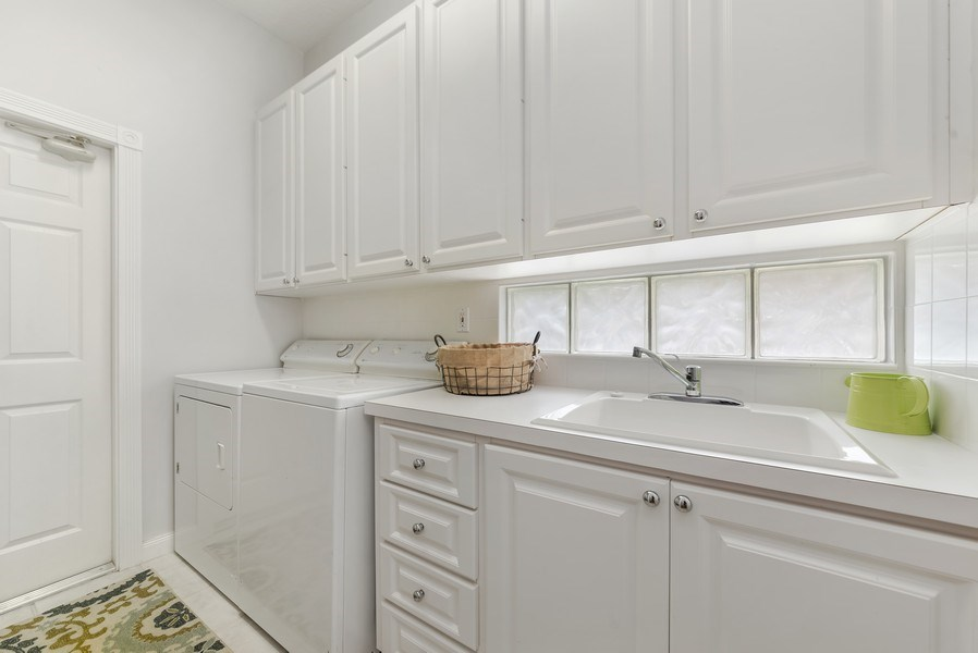 Real Estate Photography - 2733 Kittbuck Way, 403, West Palm Beach, FL, 33411 - Laundry Room