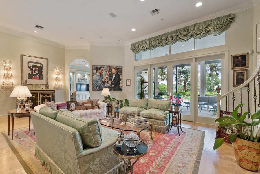Real Estate Photography - 1314 Breakers West Blvd, West Palm Beach, FL, 33411 - Living Room