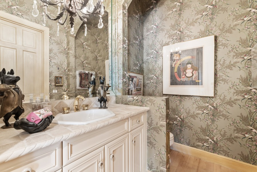 Real Estate Photography - 1314 Breakers West Blvd, West Palm Beach, FL, 33411 - Powder Room