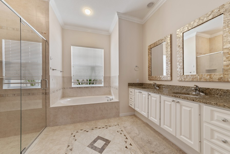 Real Estate Photography - 7210 Crystal Lake Drive, West Palm Beach, FL, 33411 - Master Bathroom