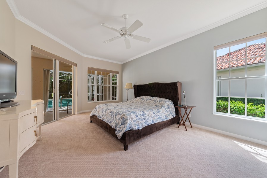 Real Estate Photography - 7210 Crystal Lake Drive, West Palm Beach, FL, 33411 - Master Bedroom