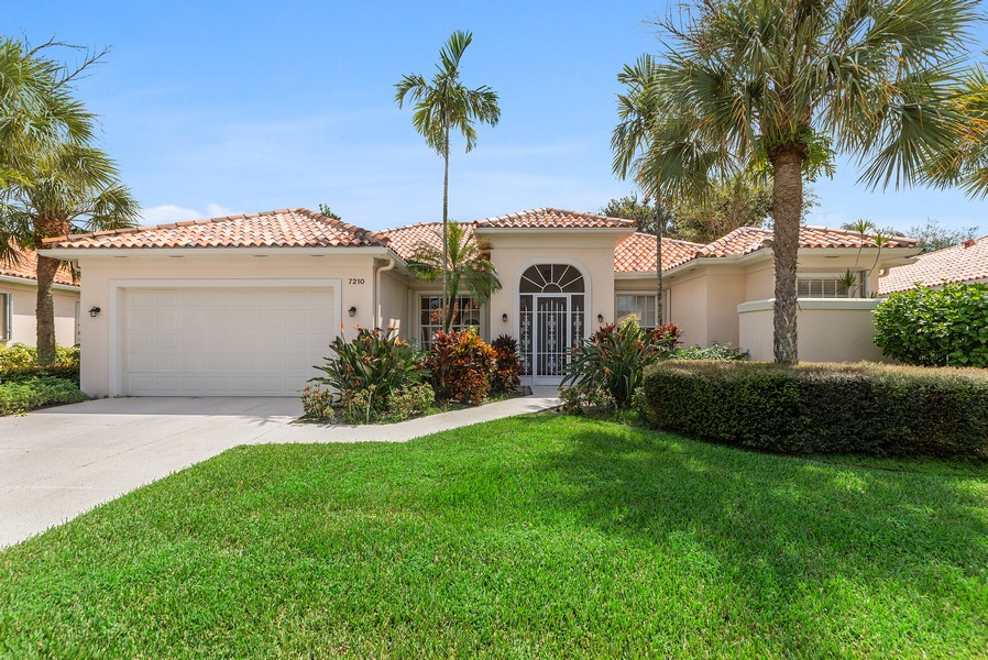 Real Estate Photography - 7210 Crystal Lake Drive, West Palm Beach, FL, 33411 - Front View