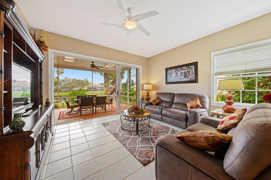 Real Estate Photography - 2746 James River Road, West Palm Beach, FL, 33411 - Living Room