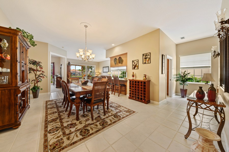Real Estate Photography - 2746 James River Road, West Palm Beach, FL, 33411 - Foyer/Dining Room