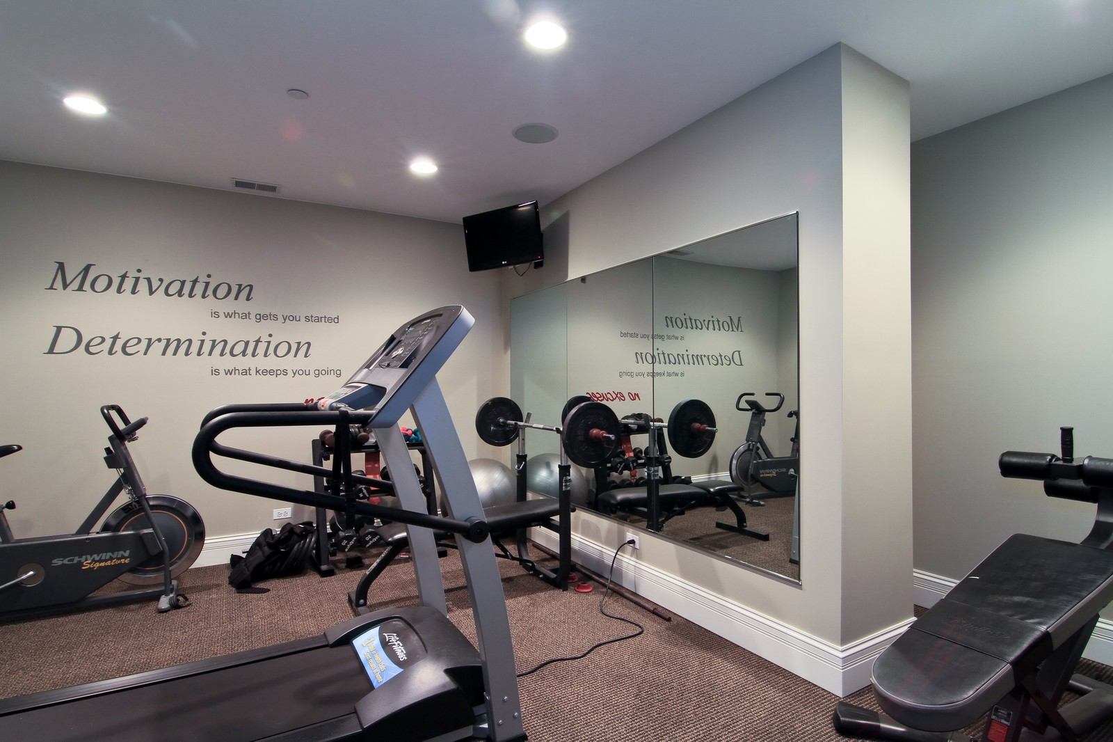 Real Estate Photography - 127 Tuttle, Claredon Hills, IL, 60514 - Exercise Room