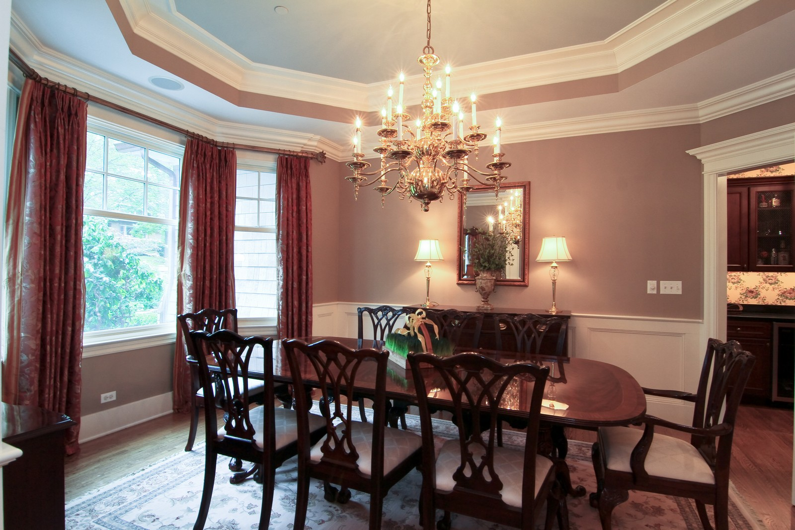 Real Estate Photography - 127 Tuttle, Claredon Hills, IL, 60514 - Dining Room