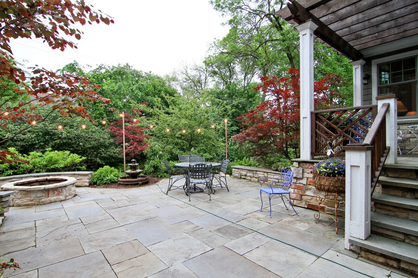 Real Estate Photography - 127 Tuttle, Claredon Hills, IL, 60514 - Patio