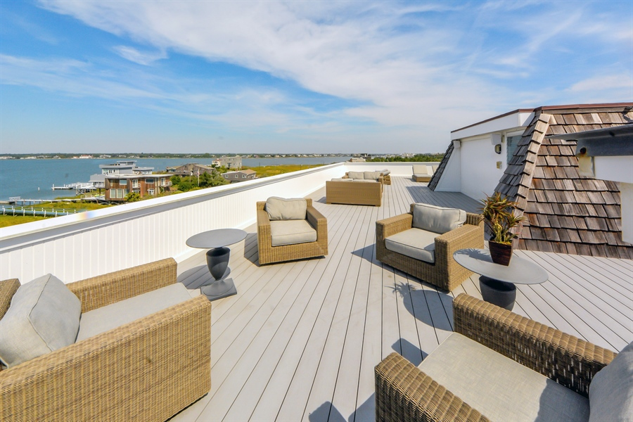 Real Estate Photography - 364 Dune Road, Westhampton Beach, NY, 11978 - Roof Deck