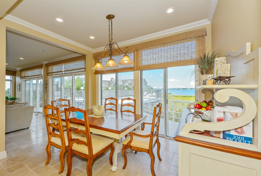 Real Estate Photography - 364 Dune Road, Westhampton Beach, NY, 11978 - Dining Area