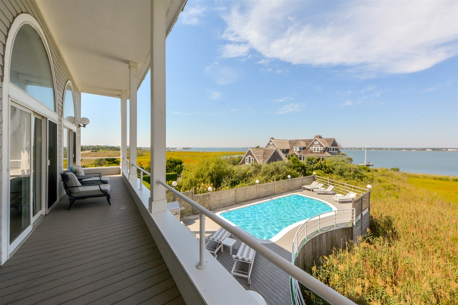 Real Estate Photography - 364 Dune Road, Westhampton Beach, NY, 11978 - Balcony