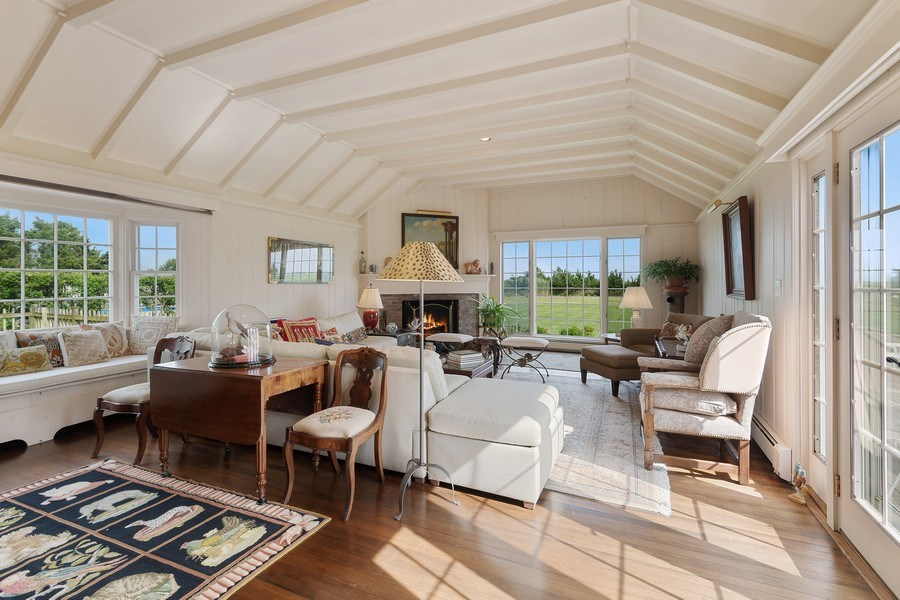 Real Estate Photography - 52 & 56 Tuthill Point Rd, East Moriches, NY, 11940 - Guest House Living Room