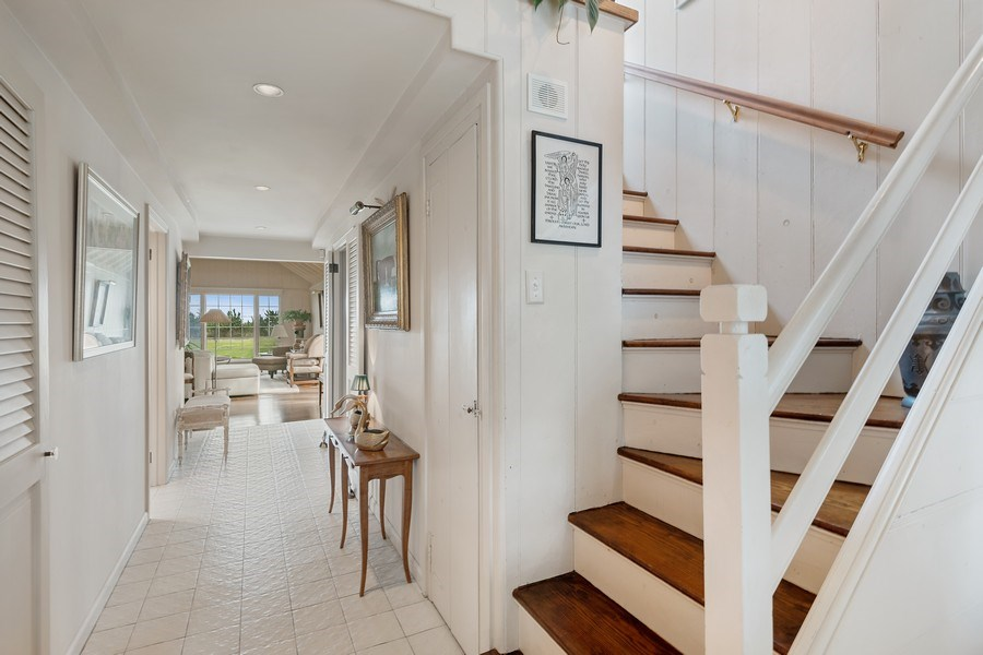 Real Estate Photography - 52 & 56 Tuthill Point Rd, East Moriches, NY, 11940 - Staircase