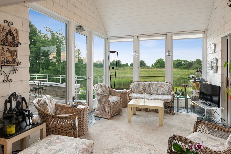 Real Estate Photography - 52 & 56 Tuthill Point Rd, East Moriches, NY, 11940 - Sunroom