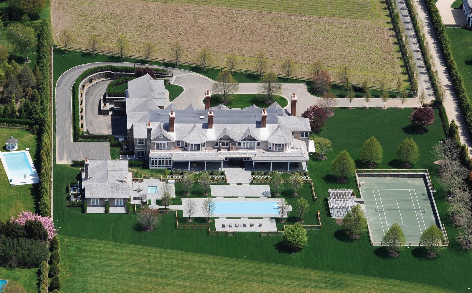 Real Estate Photography - 612 halsey lane, bridgehampton, NY, 11932 - Aerial View